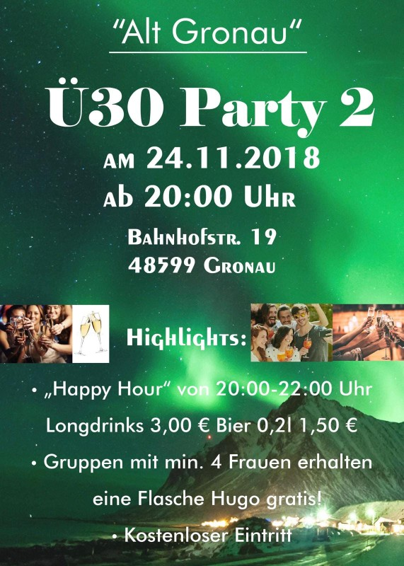 "Ü-30 Party 2 im ""Alt Gronau"""